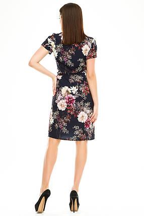 Платье на запах 007 темно-синее, фото 2