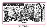 Пластина для стемпинга серии XIUYA №01