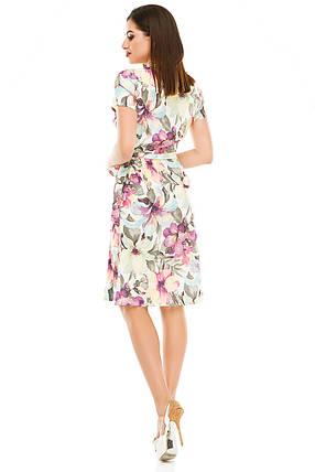 Платье на запах 007 сиреневое, фото 2