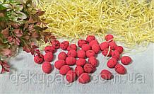 Яйцо декоративное пенопласт мини 2см, цвета в ассортименте красный