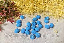 Яйцо декоративное пенопласт мини 2см, цвета в ассортименте синий