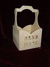 Короб с ручкой hand made для творчества (20 х 19,5 х 32 см)