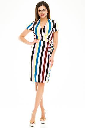 Платье на запах 007 желтая полоска, фото 2
