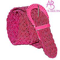 """Ремень женский плетенка на шпеньке  (темно розовый) 40 мм  """"ALEX"""" оптом прямой поставщик"""