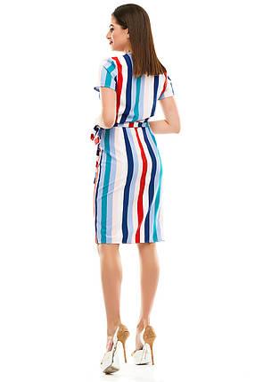 Платье на запах 007 красная полоска, фото 2