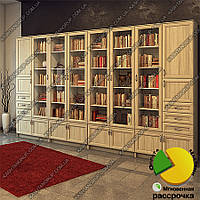 Книжный шкаф для гостиной Ш: 3600 мм, Г: 300 мм, : 2200 мм