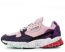 "✔️ Кроссовки Adidas Falcon W ""Pink/Purple/White"" , фото 3"