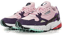 "✔️ Кроссовки Adidas Falcon W ""Pink/Purple/White"" , фото 2"