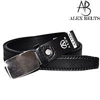 """Детский ремень Alon (черный) заменитель 20 мм """"ALEX"""" оптом прямой поставщик"""