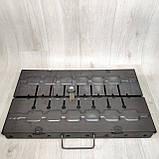 Мангал розкладний у валізу товщиною 2мм з ніжками на 8 шампурів, фото 2