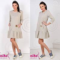 Платье из трикотажа для беременных и кормящих мам 8067 GENIKA