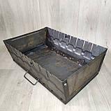 Мангал розкладний у валізу товщиною 2мм з ніжками на 8 шампурів, фото 4