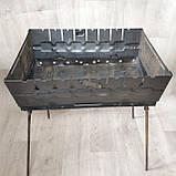 Мангал розкладний у валізу товщиною 2мм з ніжками на 8 шампурів, фото 5