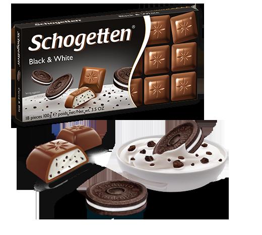 Шоколад молочный Шогетен  Schogеtten Black&white 100 г х 15 шт в упаковке