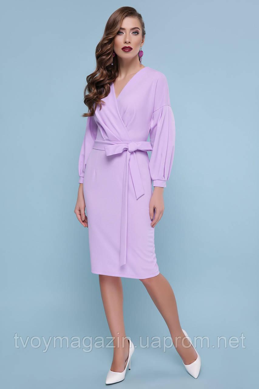 Восхитительное лавандовое платье с запахом  Чудова лавандова сукня с запахом
