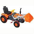 Педальний трактор, екскаватор з ковшем Active Traktor Велотрактор, фото 4