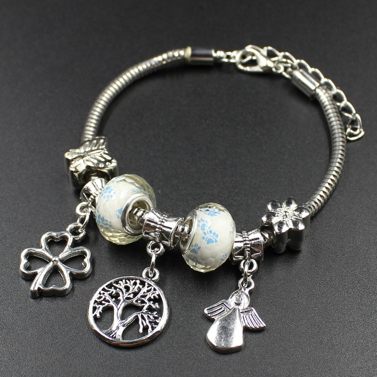 """Женский браслет в стиле Пандора  """" Angela silver"""""""