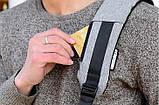 Рюкзак Bobby антивор для ноутбука. Портфель городской (черный, серый), фото 5