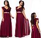 Вечернее длинное платье с V вырезом (мята) 828710, фото 2