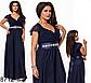 Вечернее длинное платье с V вырезом (мята) 828710, фото 3
