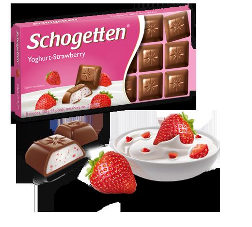 Шоколад молочный Шогетен Йогурт Клубника Schogеtten Yogurt Strawberry 100 г х 15 шт в упаковке