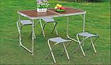 Стол алюминиевый раскладной для пикника + 4 стула, чемодан, фото 4