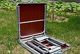 Стол алюминиевый раскладной для пикника + 4 стула, чемодан, фото 5