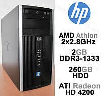 HP 6005 Pro - AMD 2x2.8GHz/ 2GB DDR3/ 250GB HDD Системный блок, Компьютер, ПК
