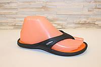 Вьетнамки черные с оранжевым силикон Б273, фото 1