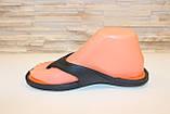 Вьетнамки черные с оранжевым силикон Б273, фото 2
