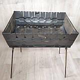 Мангал розкладний у валізу 2ммс чохлом і шампурами 8 шт, фото 3