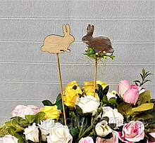 Декор на палочке, фигурка 7см, в ассортименте кролик