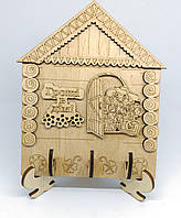 """Ключниця дерев'яна """"Гроші в дім"""""""