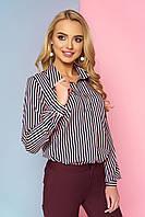 """Женская свободная блузка в полоску в морском стиле, длинный рукав """"Дженифер"""" 7"""