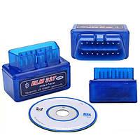 Автомобильный диагностический сканер-адаптер OBD2 ELM327 v2.1 Bluetooth mini