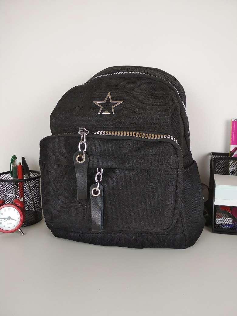 f032bc07acad Черный рюкзак с блестками для девушки подростка 30*24*13 см - Puziki.