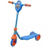 Детский самокат для мальчика трехколесный скутер HOT WHEELS Т57587
