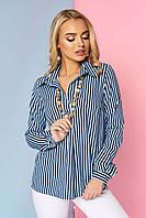 """Женская свободная блузка в полоску в морском стиле, длинный рукав """"Дженифер"""" 8"""