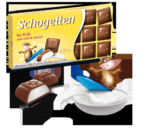 Шоколад молочний Шогетен Дитячий Schogеtten For Kids 100 г х 15 шт в упаковці