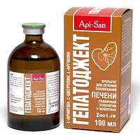 Апи-Сан Api-San Гепатоджект инъекционный раствор для лечения заболеваний печени у животных 100 мл