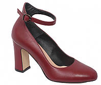 Туфли бордовые ТМ Лидер, 37 размер, 3281.155