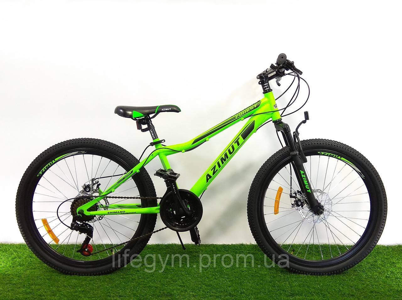 Горный велосипед Azimut Forest 26 D+ Салатово-черный