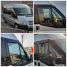 Дефлекторы окон (ветровики) клеющие / накладные Д/о Ford Transit 2000-2014  2шт  (ANV-AIR)