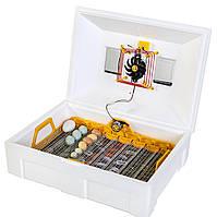 Теплуша Люкс 72 ИБ 12/50 ТАВ. Инкубатор c питанием 12В, автоматический инверторный со встроенным гигрометром.