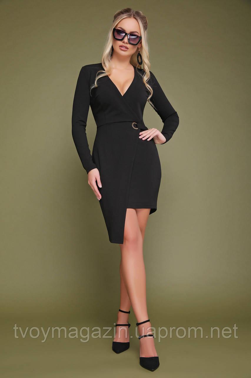 Восхитительное черное платье с запахом  Чудова чорна сукня с запахом