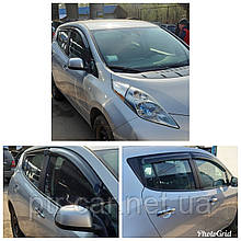 Дефлекторы окон (ветровики) Nissan Leaf 2010 -> 4шт (HIC)