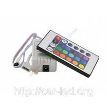 RGB Контролер однозональный з ІЧ управлінням 6A 24 кнопки