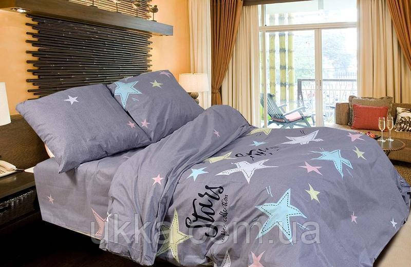 Двуспальное постельное бязь 100% хлопок Старс