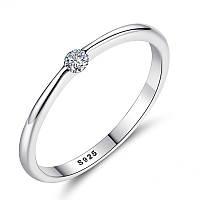 """Женское серебряное кольцо 925 пробы с цирконием (фианитом) """"Stella"""", размер (диаметр) 16,5 mm."""
