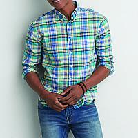 Рубашка в клетку мужская AEO Mandras Button Down SEAFOAM